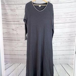 Chico's Fitigues gray waffle thermal shift dress